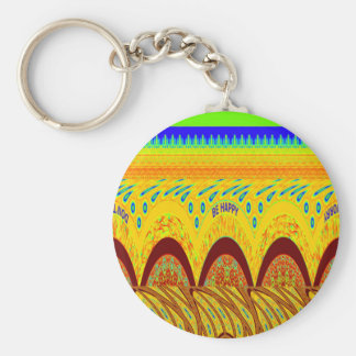 Golden green African Traditional Color Keychain