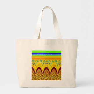 Golden green African Traditional Color Large Tote Bag