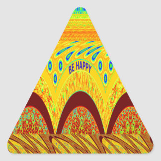 Golden green African Traditional Color Triangle Sticker