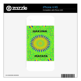 Golden Green African Traditional Fabric Colors iPhone 4 Decal