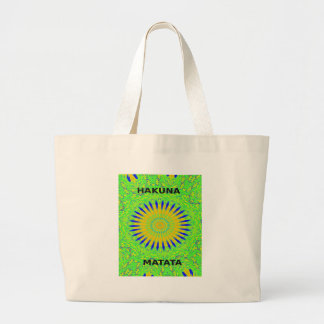 Golden Green African Traditional Fabric Colors Large Tote Bag