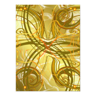 golden, green and black shiny festive colored old card