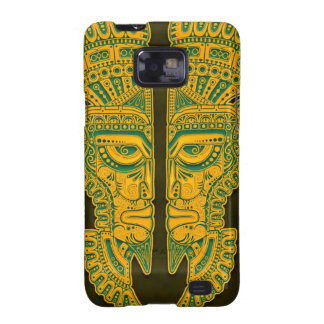 Golden Green Aztec Twins Samsung Galaxy SII Cover