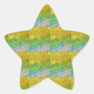 Golden Green Goodluck Dream Template + text image Star Sticker