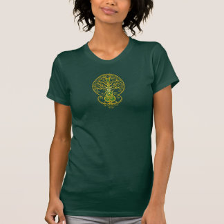 Golden Green Guitar Tree of Life T-Shirt