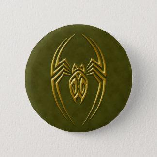 Golden Green Iron Spider Pinback Button