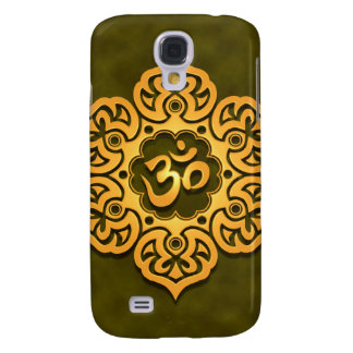 Golden Green Lotus Flower Om Samsung Galaxy S4 Cover