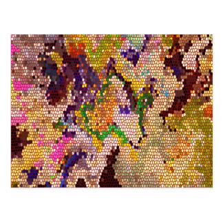 Golden Green Lucky Patterns Postcards