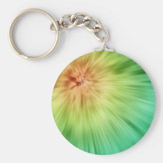 Golden Green Tie Dye Keychain