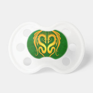 Golden Green Tribal Dragons Pacifiers