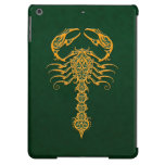 Golden Green Tribal Scorpion Cover For iPad Air