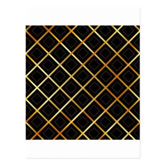 Golden grid background postcard