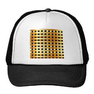 Golden grid hat