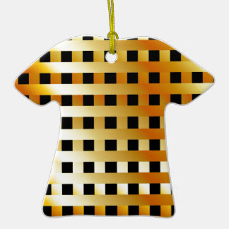 Golden grid christmas tree ornaments