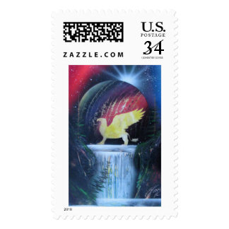 Golden Griffin waterfall's Postage