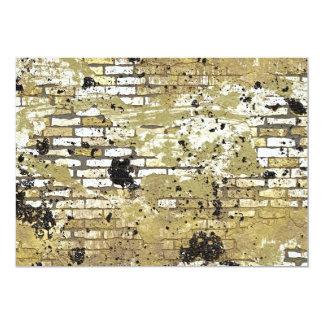 GOLDEN GRUNGE BRICK WALL TEMPLATE CITY INNER GANGS CUSTOM INVITES