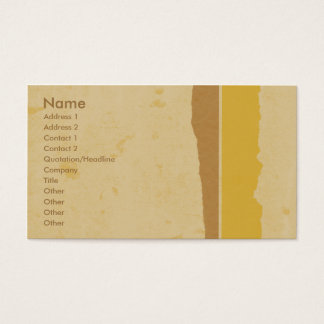 Golden Grunge Business Card