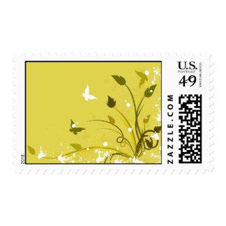 Golden Grunge Butterfly Postage