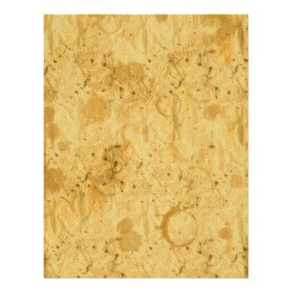 Golden Grunge Handmade Paper-effect Letter Sheets