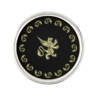Golden Gryphon Goth Signet Pin
