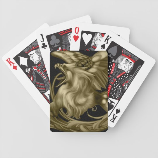 Golden Gryphon Playing Cards