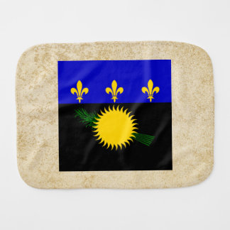 Golden Guadeloupe Flag Baby Burp Cloths