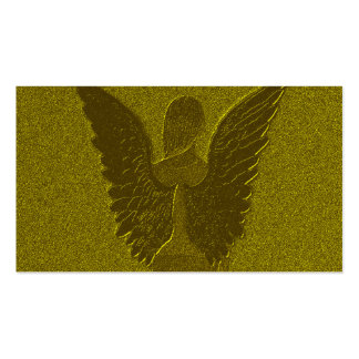 Golden Guardian Angel Double-Sided Standard Business Cards (Pack Of 100)