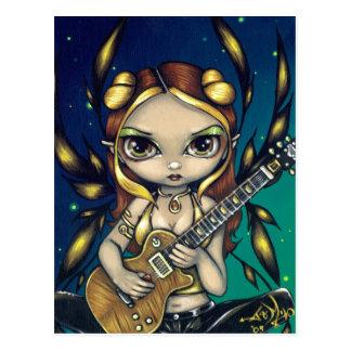 """""""Golden Guitar Fairy"""" Postcard"""