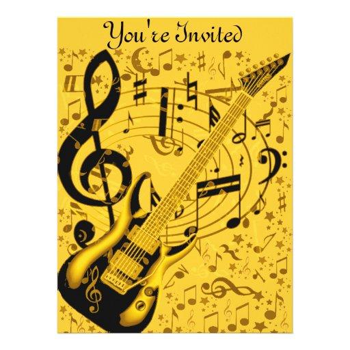 Golden Guitar_ Personalized Announcement