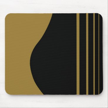 Beach Themed Golden Guitar Mouse Pad