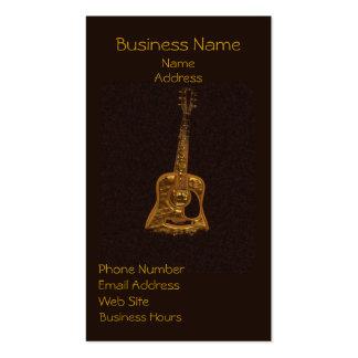 Golden Guitar Music Lover's Business Cards