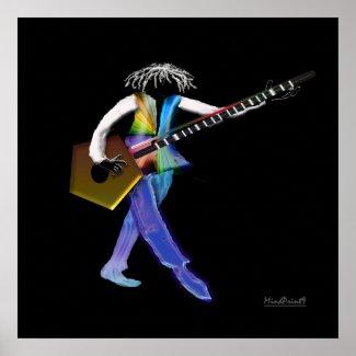 Golden Guitar Poster