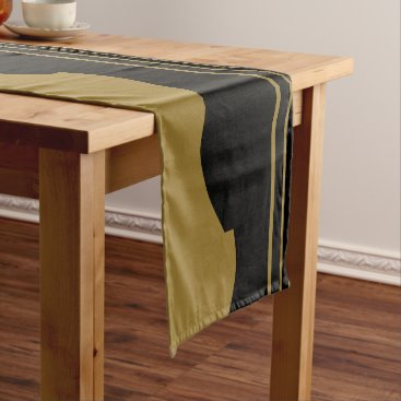 Beach Themed Golden Guitar Short Table Runner