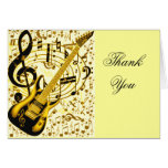 Golden Guitar_ Stationery Note Card