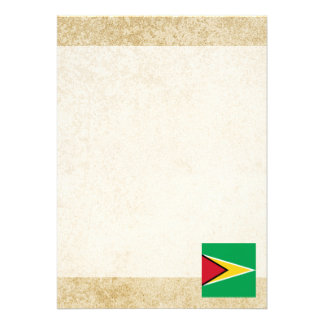 Golden Guyana Flag Card