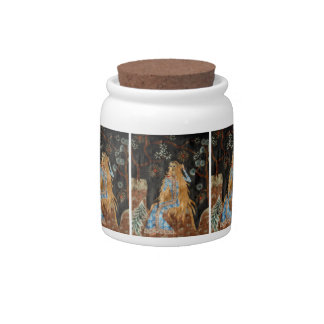 Golden Hair Candy Jar
