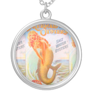 golden hair mermaid necklace