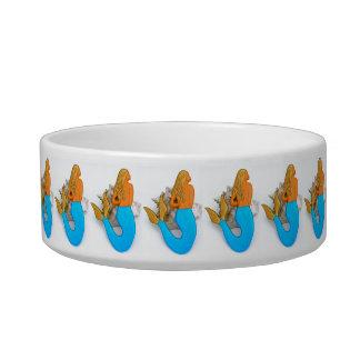 golden hair mermaids bowl