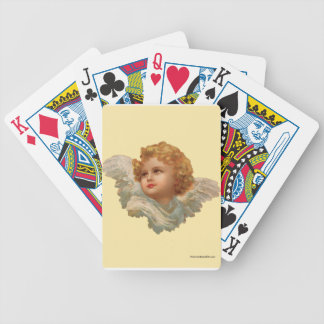 Golden Haired Cherub Bicycle Playing Cards