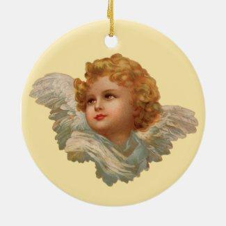 Golden Haired Cherub Keepsake Holiday Ornament