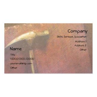 Golden Hammer Carpenter Business Card Pack Of Standard Business Cards