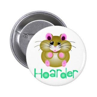 "Golden Hamster - ""Hoarder"" Buttons"