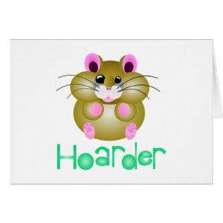 """Golden Hamster - """"Hoarder"""" Card"""