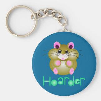 """Golden Hamster - """"Hoarder"""" Keychain"""