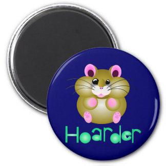 """Golden Hamster - """"Hoarder"""" Fridge Magnet"""
