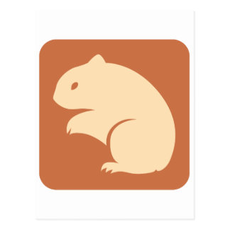 Golden Hamster Icon Postcard