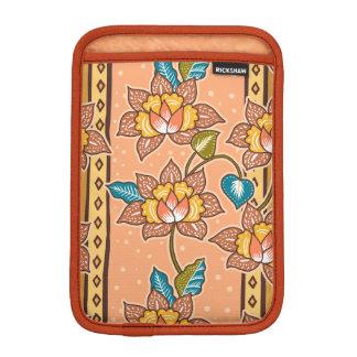 Golden Hand drawn decorative floral batik pattern Sleeve For iPad Mini