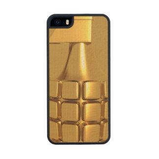 Golden Hand Grenade Wood iPhone SE/5/5s Case