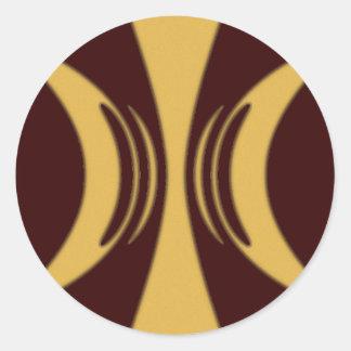 Golden Hand of Eris Round Sticker