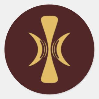 Golden Hand of Eris Round Stickers